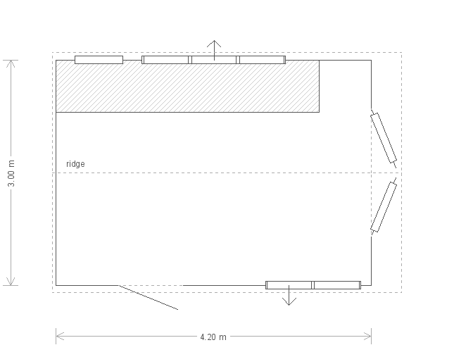 10 X 14 Superior Shed In Pebble (9747) floorplan
