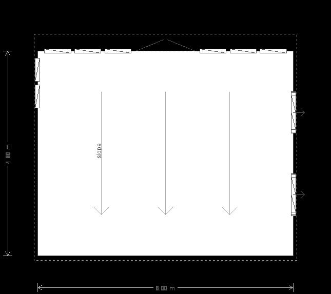 16 X 20 Salthouse Studio With Pent Roof (10375) floorplan