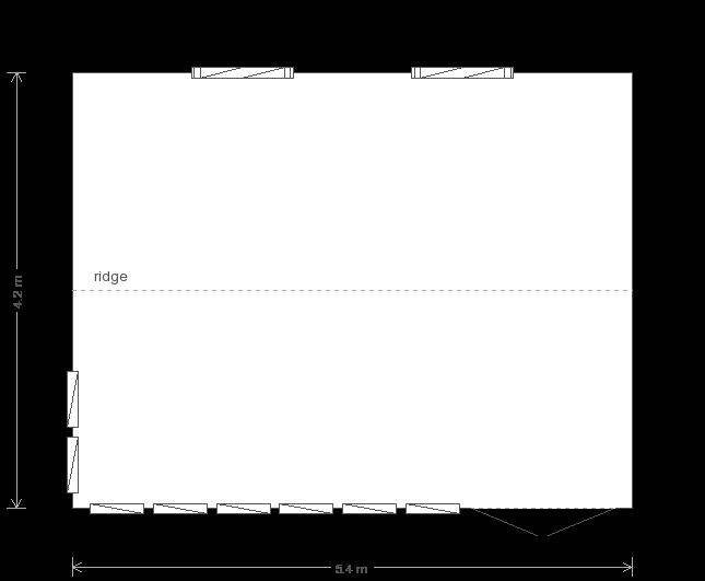 14 x 18 Burnham Studio with Apex Roof  (Ref: 105) (105) floorplan