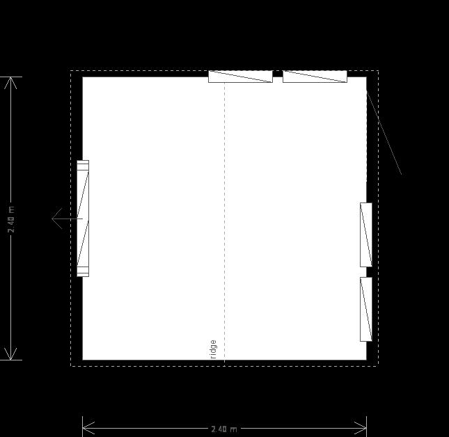 8 X 8 Burnham Garden Studio (10639) floorplan
