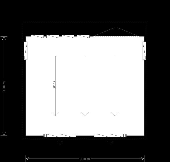 10 X 12 Salthouse Studio With Pent Roofplan (10755) floorplan