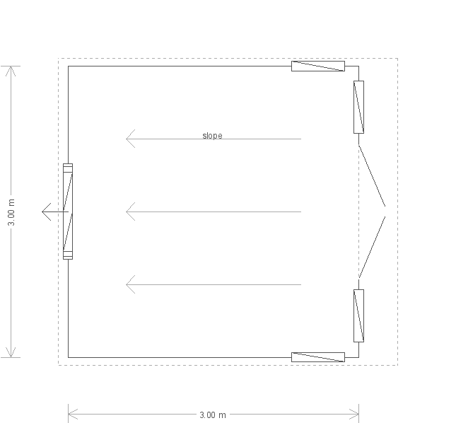 10 x 10ft Salthouse Studio with Felt Roof (12295) floorplan