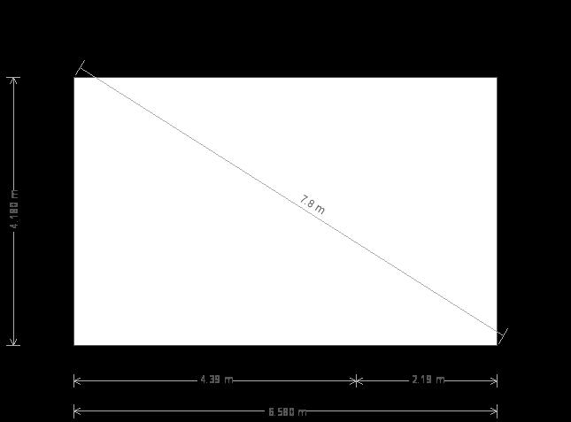 14 x 22ft Apex Garden Room (12441) base plan