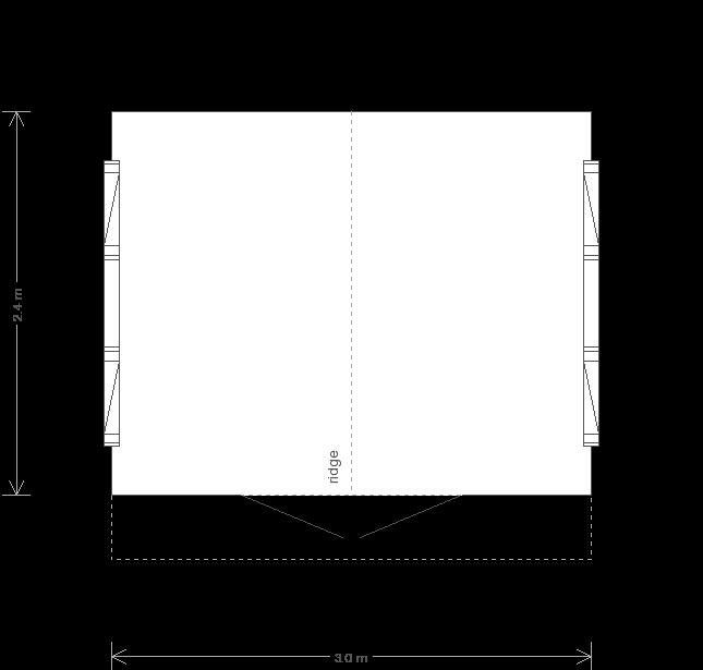 10 x 8 Binham Garden Studio (Ref: 131) (131) floorplan