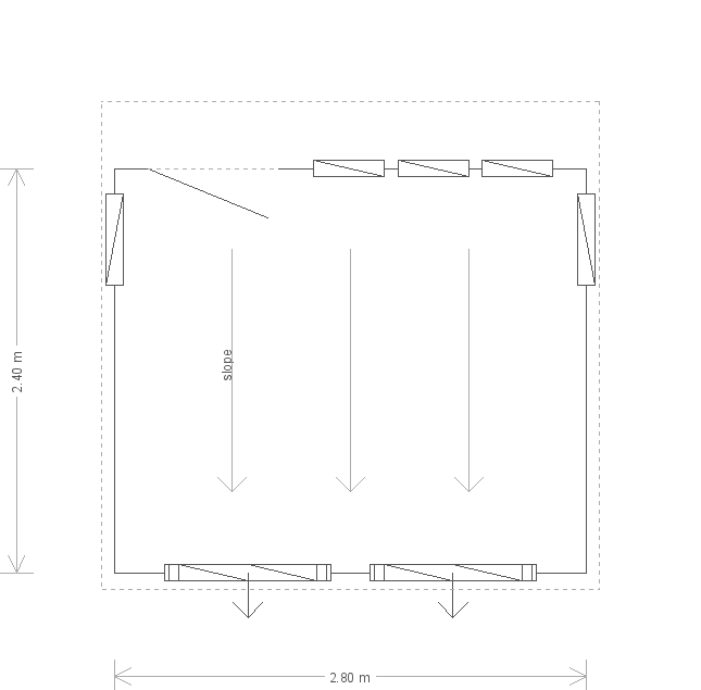 8 x 9ft Salthouse Studio (13929) floorplan