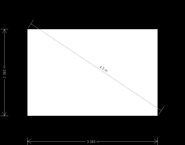 8 x 12ft Langham Studio with Slate Tile Roof  (17471) base plan