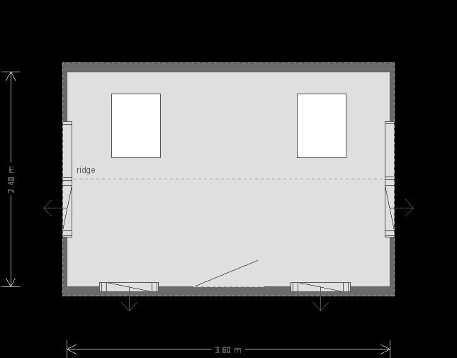 8 x 12ft Langham Studio with Slate Tile Roof  (17471) floorplan