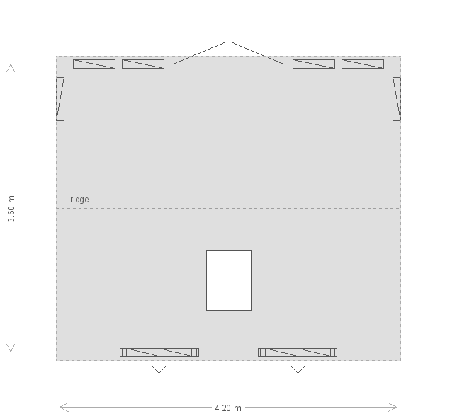 12 X 14 Burnham Studio With Apex Roofplan (17521) floorplan