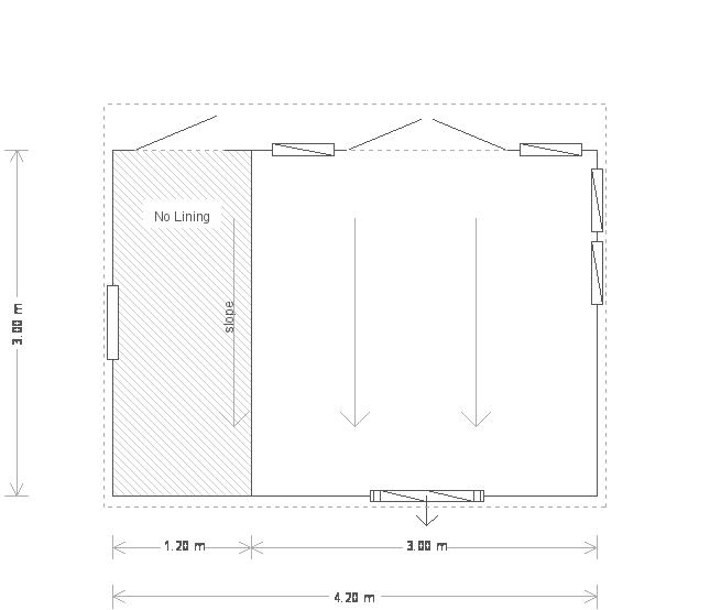 10 x 14ft Salthouse Studio (18795) floorplan