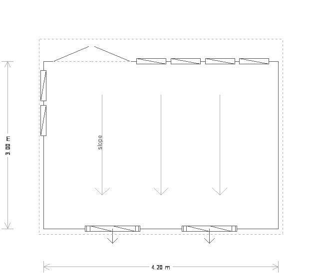 10 x 14ft Timber Garden Studio (19715) floorplan