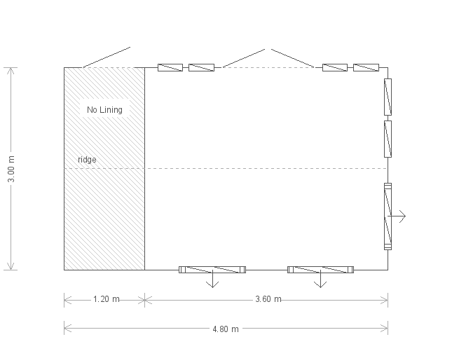 10ft x 16ft Burnham Studio in Pebble (20227) floorplan