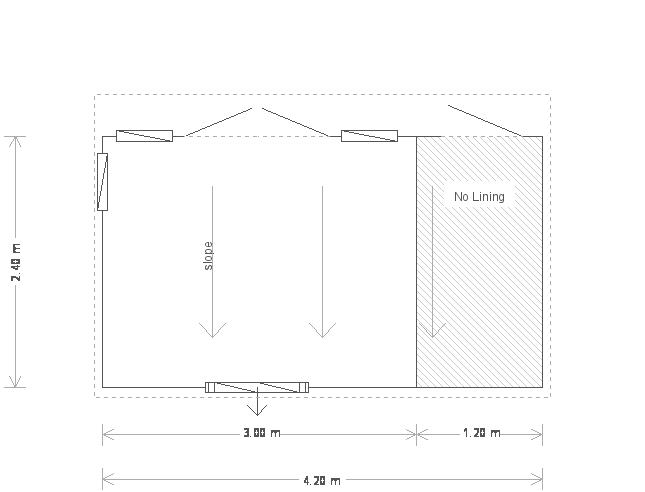 8 x 14 Salthouse Garden Studio with Storage Partition (20233) floorplan