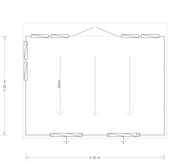 10 x 14ft Salthouse Studio in Slate (20247) floorplan