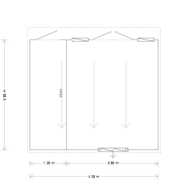 12 x 14ft Salthouse Studio with storage partition (20249) floorplan