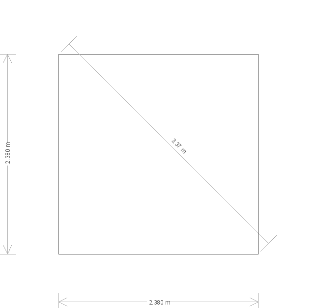 8 x 8ft Langham Studio in Lizard (20261) base plan