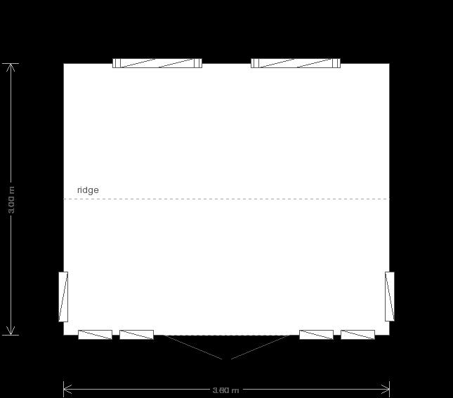 10 x 12 Burnham Studio with Apex Roof : Front