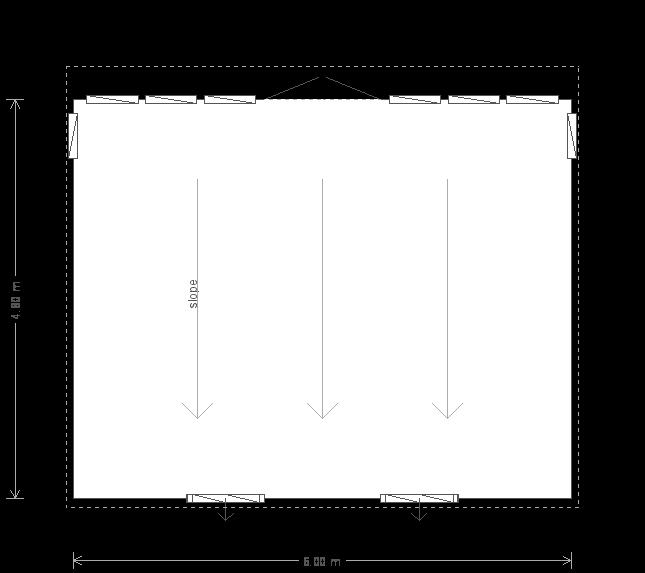 16 x 20ft Garden Studio (22527) floorplan