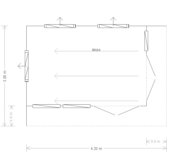 14 x 10ft Garden Office (23167) floorplan