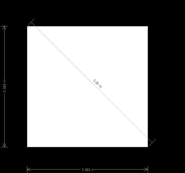 12 x 12ft Garden Office (23191) base plan