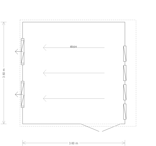 12 x 12ft Garden Office (23191) floorplan