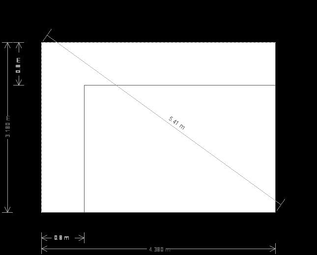 10 x 14ft Modern Garden Office (23459) base plan