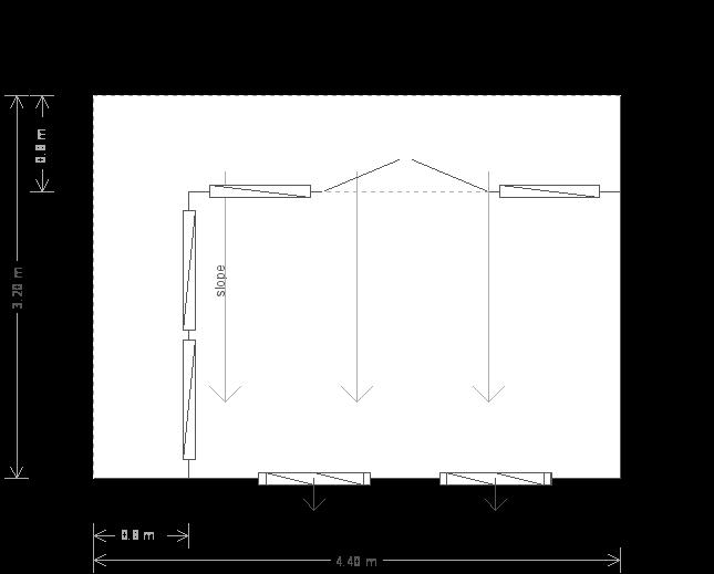 10 x 14ft Modern Garden Office (23459) floorplan
