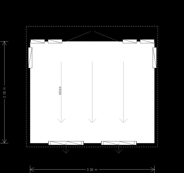 9 x 11ft Garden Office (25293) floorplan
