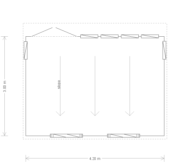 10 x 14 Salthouse Studio with Pent Roof (Ref: 273) (273) floorplan