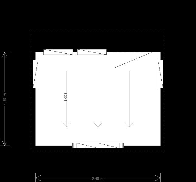 6 x 8 Salthouse Studio with Pent Roof (Ref: 275) (275) floorplan