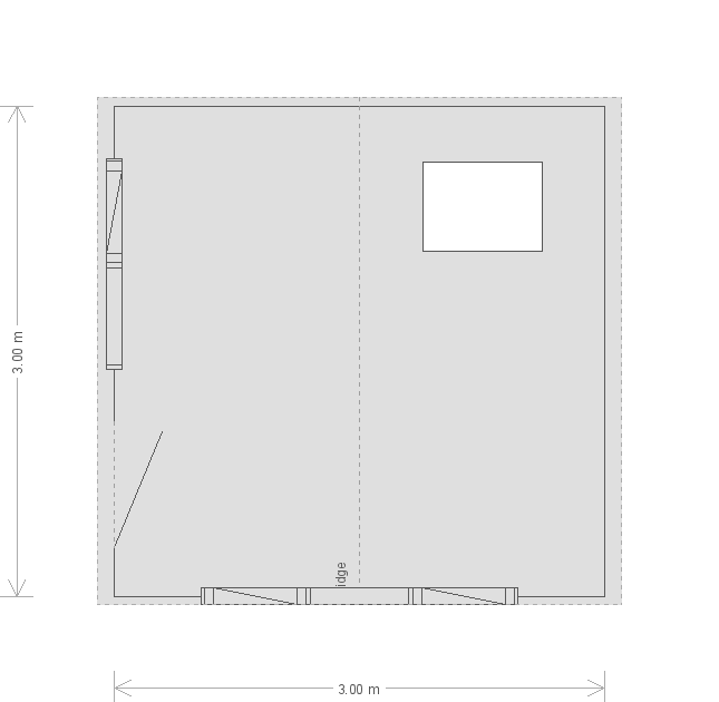 10 x 10 Langham Studio with Apex Roof : Front