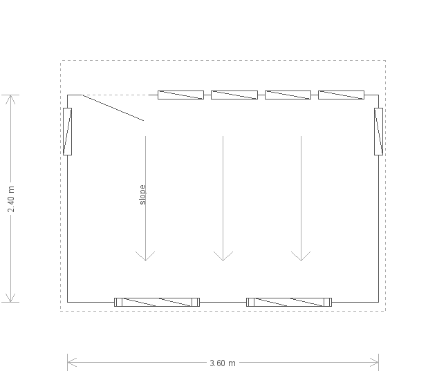 8 x 12 Salthouse Studio with Pent Roof (Ref: 323) (323) floorplan