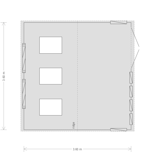 8 x 18 Burnham Garden Studio (3849) floorplan