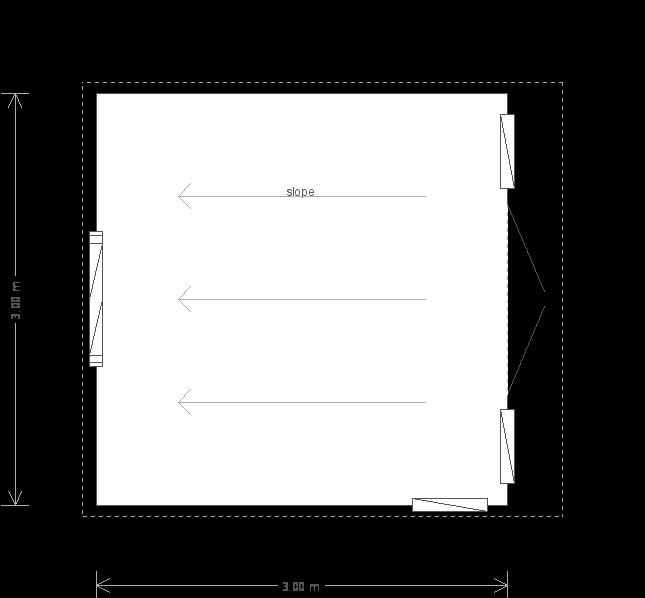 10 x 10 Salthouse Studio with Sedum Roof (Ref: 417) (417) floorplan