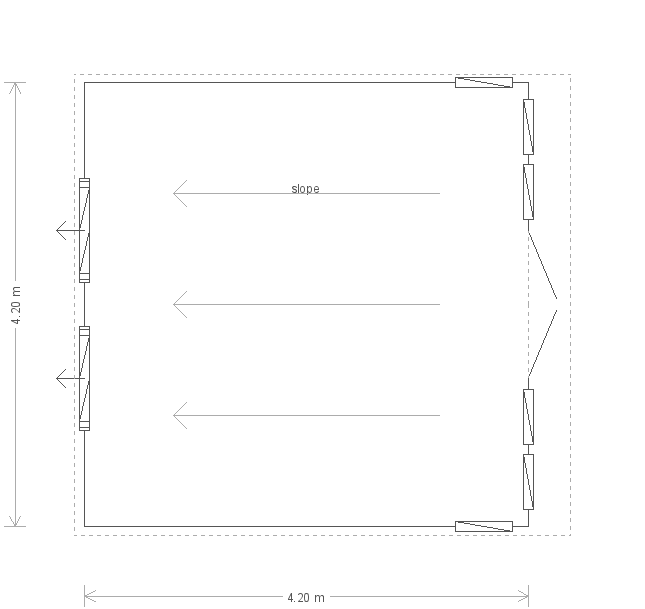 14 x 14 Salthouse Studio (6421) floorplan