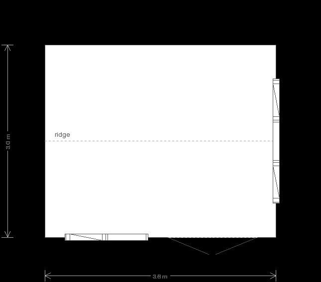 10 x 12 Garden Studio (Ref: 73) (73) floorplan