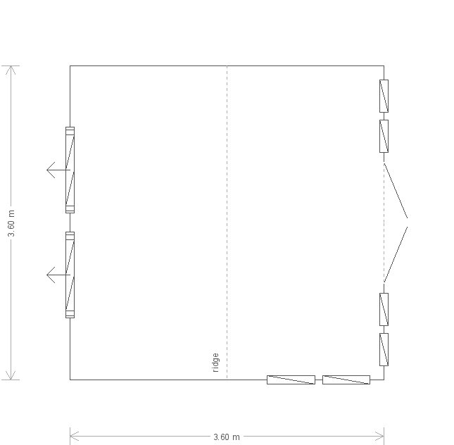 12 x 12 Burnham Studio With Guttering (8115) floorplan