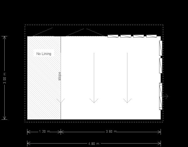 3.0 x 4.8m Salthouse Studio with Roof Overhang (8775) floorplan
