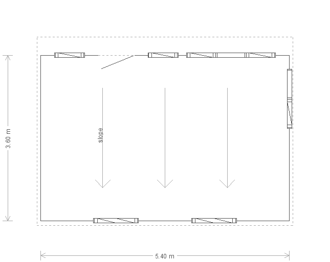 12 x 24 Salthouse Studio (Ref: 937) (937) floorplan