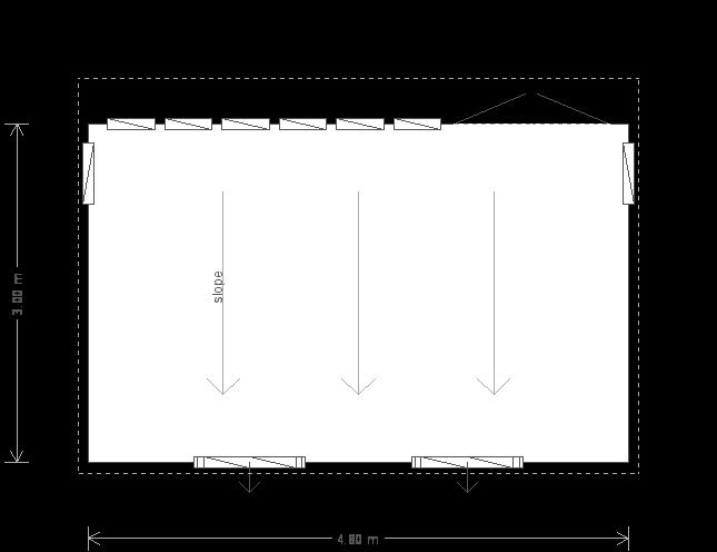 10 X 16 Satlhouse Studio With Pent Roof Plan (9505) floorplan