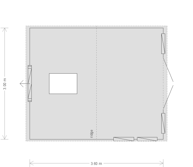 12 X 10 Burnham Studio In Pebble (9701) floorplan