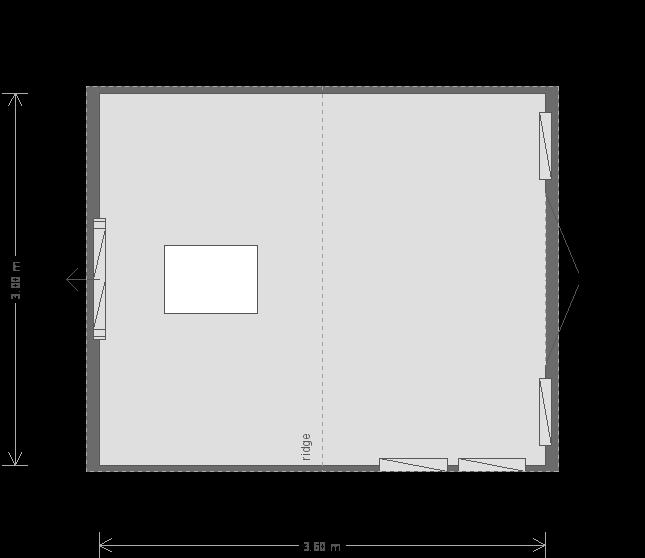 12 X 10 Burnham Studio In Pebble (9701) floorplan