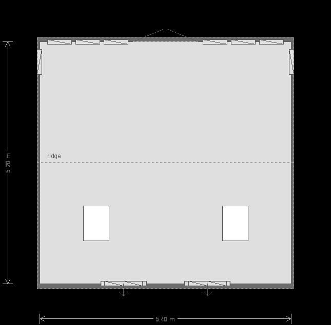 17 X 18 Burnham Studio With Apex Roof (9703) floorplan