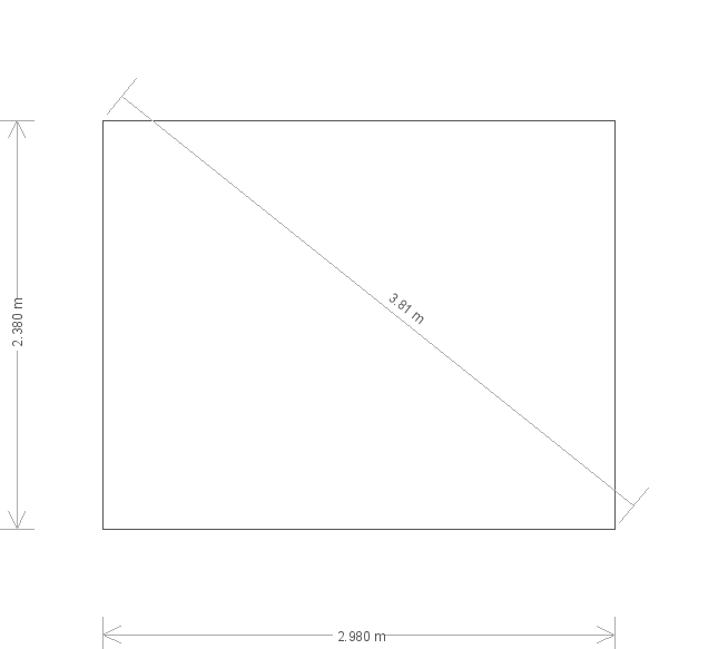 8 x 10ft Greenhouse in Slate  (15483) base plan