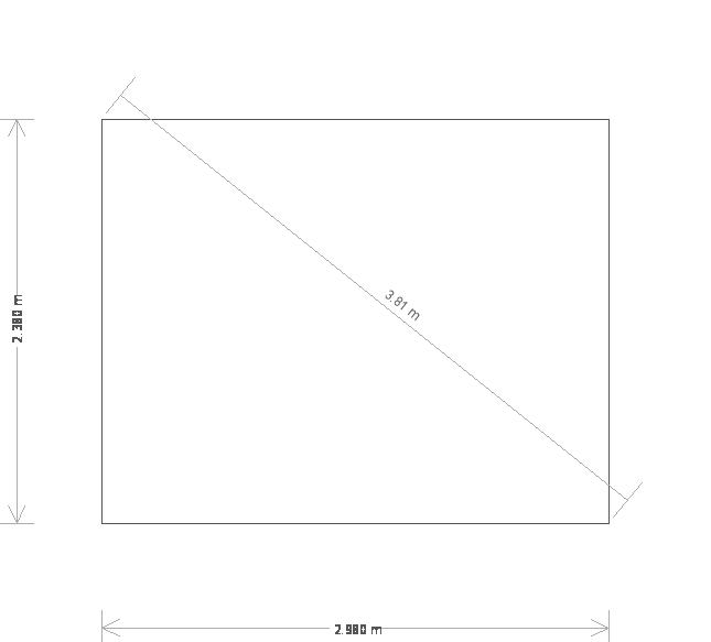 8 x 10ft Timber Greenhouse  (19465) base plan