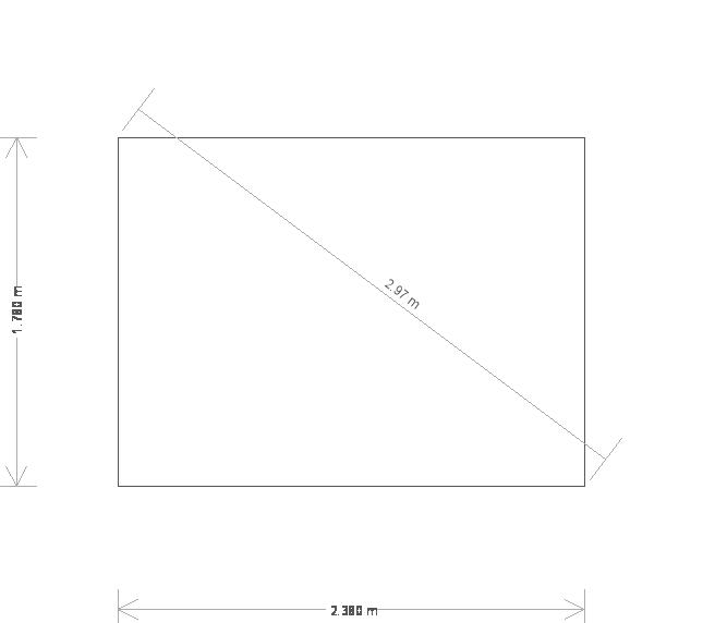 6 x 8ft Greenhouse in Farrow & Ball  (19671) base plan