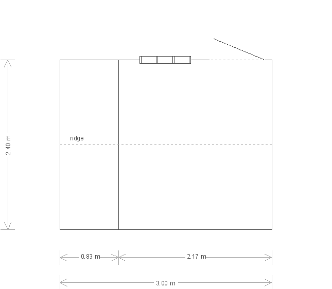 8 X 10 Blickling National Trust Shed (10641) floorplan