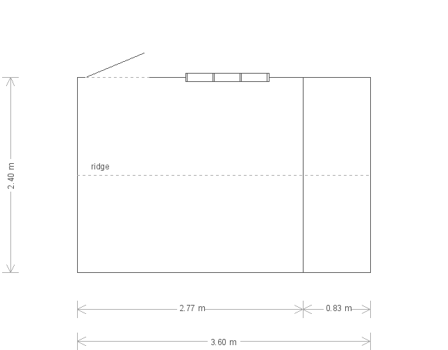 8 X 12 Blickling National Trust Shed with Apex Roof in Wades Lantern (17191) floorplan
