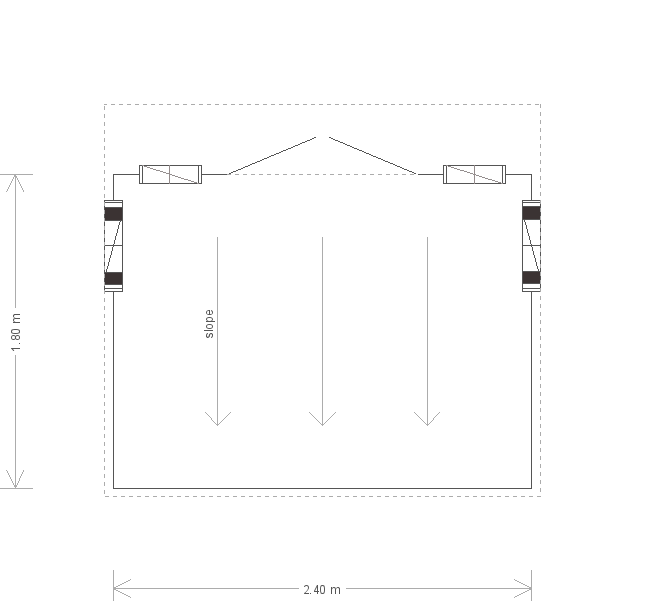 6 x 8 Flatford Summerhouse With Pent Roof (7755) floorplan