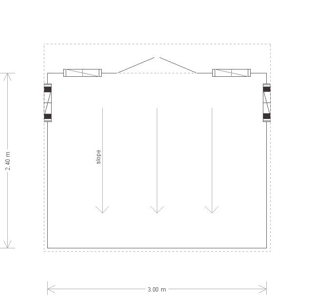 2.4 x 3.0m Flatford National Trust Summerhouse (8687) floorplan