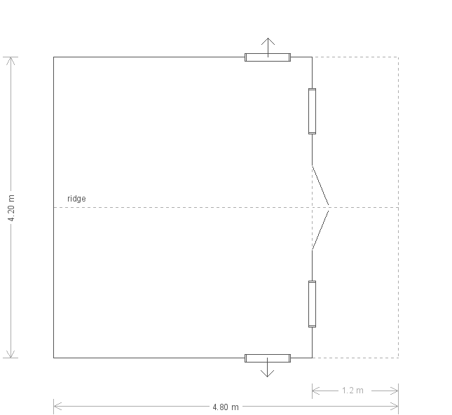 Morston Summerhouse: Floorplan